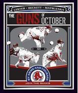 Boston Red Sox Poster 3 Gun Of October 2008 Dunkin Donuts  - $8.95