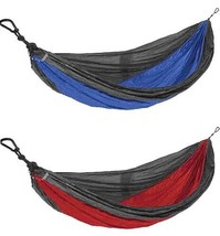 Castaway Travel Hammocks All In One Double Hammock (Blue, Red, Green) NW... - $34.99