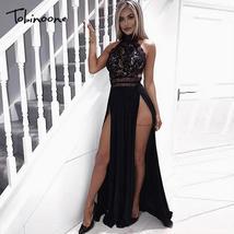 Tobinoone 2019 New Women Sexy Lace Dress Summer Bodycon Vintage Maxi Dre... - $48.50