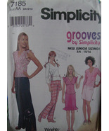 Pattern 7185 Teen Wardrobe Tops, Pants, Skirts sz 3/4 - 9/10 - $6.99