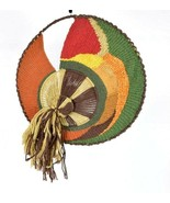 Vtg Wool Dream Catcher Wall Hanging Boho Multi Color Tapestry Rustic Tex... - $94.04