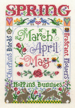 Spring Season cross stitch chart Imaginating - $5.40