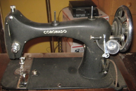 National Sewing Machine. Reversew Vibrating Shuttle Tension Release Lever