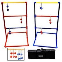 Sports Festival Metal Ladder Ball Game Set, Outdoor Ladder Golf with Car... - $48.19