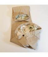 "L L BEAN Womens Khaki Flannel Lined Pants Size 14 T (32 1/2"" Inseam) Out... - $28.08"