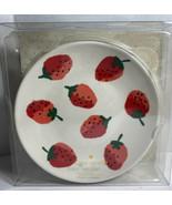"Kate Spade NY Tidbit Plates Strawberries Set of 4 6"" Melamine Plates New T1 - $25.15"