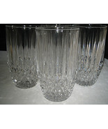 Fostoria STRATTON Highball Glasses Diamond point glasses Set of 4 Excellent - $22.99