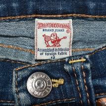 True Religion Girls Juniors Denim Straight Leg Blue Jeans Size 12 G102172QZ image 2