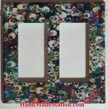 Artist Skulls Light Switch Outlet Power Duplex Wall cover plate home decor image 3