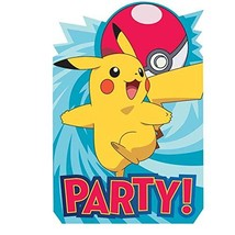 American Greetings Pokemon Invitations 8 Count - $7.25