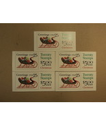 USPS Scott 2429a 25c 1989 Sleigh Full Of Presents 5 Books 100 Stamps 10 ... - $65.91