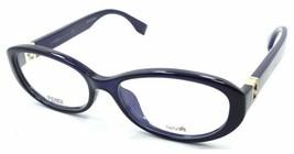 Fendi Rx Eyeglasses Frames FF 0070/F MJH 53-16-135 Dark Blue Italy Asian... - $147.00