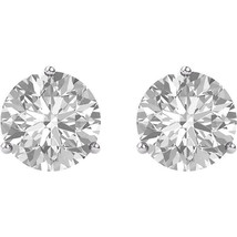 1 1/2 CTW Moissanite Earrings Pair White, Yellow or Rose Solid 14k Gold - $229.00