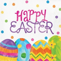 """Egg Toss """"Happy Easter"""" 16 Ct Lunch Paper Napkins - $4.17"""