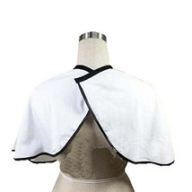 Hair Beauty Salon Client Short Gown Waterproof Coloring Dye Cape Smock, White