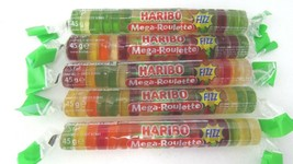 Haribo Roulette Fizz Sour Gummy Bears -5 rolls-Made In Germany Free Shipping - $9.41