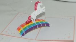 Lovepop LP1140 Unicorn Pop Up Card with White Envelope Cellophane Wrapped image 3
