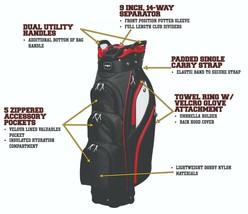Majek Luxe Homme Noir Rouge Blanc Golf Sac 24.1cm 14-way Haut Putter Man... - $195.27