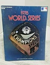 1978 World Series Baseball Program New York Yankees Los Angeles Dodgers - $12.86