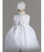 Dressy Baby Girl Sleeveless Christening Dress Hairband Flower Set USA, P... - $30.95