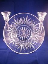 Villemont Crystal Salad Bowl + Pr Candleholders by Cristal D'Arques-Dura... - $26.95