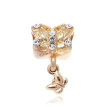 2Pcs/lot Luxurious Crown Butterfly Flower Love Crystal Pendant Beads Fit Pandora image 2