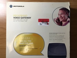 Motorola VT-1005 Vonage Voice Terminal Ip Phone Broadband Gateway 612572128237 - $9.99