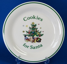"Nikko Happy Holidays Cookies for Santa 8"" Plate Christmas Tree - $18.00"