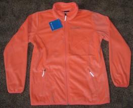 Columbia girls Fast Beauty soft plush fleece full zip jacket ORANGE YOUTH L LG - $28.01
