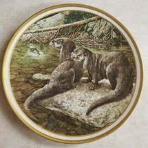 Lenox Otter Collector Plate By Norman Adams Made USA Vintage 1982 - $51.43