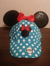 Disney Youth Girls Minnie Polka Dot Ear Hat, Blue Red New With Tags - $9.41