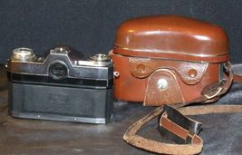 Zeiss Ikon Contaflex Super Camera with hard leather Case AA-192013 Vintage image 9