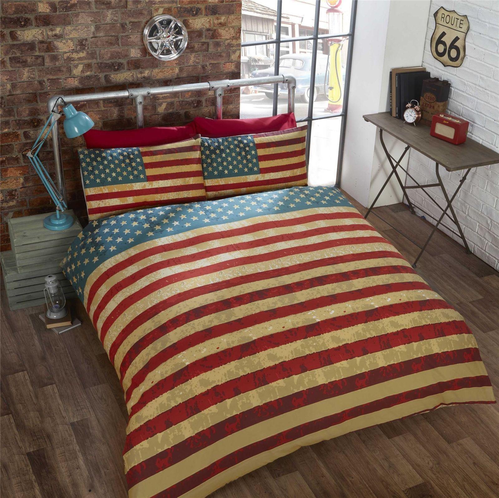 Vintage American Flag Bedding