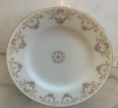 """1 Limoges A LANTERNIER AL FRANCE 9"""" Dinner plate Gold Trim Pink Flowers ... - $24.75"""