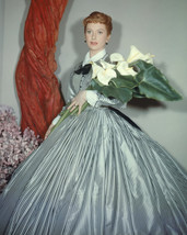 Deborah Kerr In The King And I Holding Flowers 16X20 Canvas Giclee - $69.99
