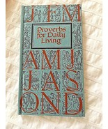 BIBLE STUDY VTG Mcm PROVERBS FOR DAILY LIVING BY MONTH NOS, ORIGINAL BOX... - $15.17