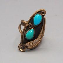 Vintage Turquoise Ring Size ~5 - €26,24 EUR