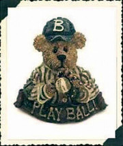 "Boyds Bearwear ""Greg McBruin.. The Windup"" Resin Baseball Pin #26141*New - $10.99"