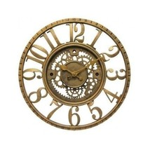 modern rustic Wall Clock Infinity Gear Open Dial Resin Home Office Decor... - $69.29