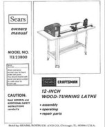 Sears Craftsman Wood Metal Lathe Owners Manual Many Models Available - $5.99