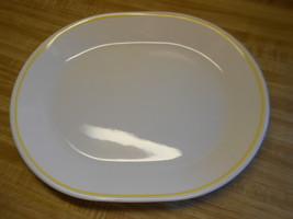 corelle platter ~ white with yellow stripe around the edge ~ not sure of... - $12.82