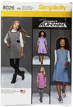 Simplicity Girls And Girls Plus Project Runway Dress, Jumper-8-10-12-14-16 - $21.49