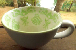 Starbucks Coffee Mug/White w Green Fleur De Lis Design/8 oz - $18.95