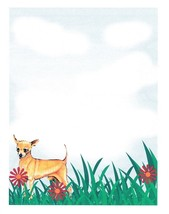 NEW Chihuahua Dog Letterhead Printable Stationery Paper 51 Sheets - $16.14