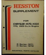 Chrysler H170, H225 Industrial Engines Parts Manual - $45.00