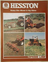 1986 Hesston 1030 Rotary Disc Mower,Hay Rakes, and Tedders  Brochure - $9.00