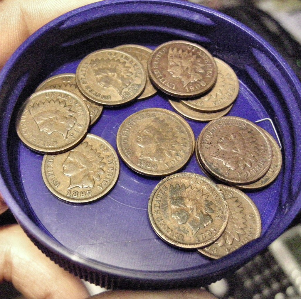 Roll of 50 Indian Head Cents Better Condition