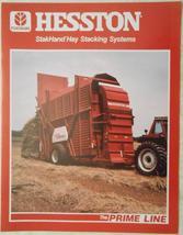 1985 Hesston StakHand, StakFeeder, StakMover Color Brochure - $8.00