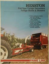 1981 Hesston Pull-Type Forage Harvesters, Forage Boxes, and Blowers Broc... - $8.00