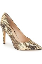 Women's Vince Camuto Kain Pointed Toe Mid Heel Pumps, Sizes 8-10 Golden VC-KAIN - $79.95